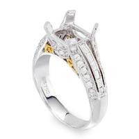 Pave Diamond Engagement Ring Setting 1042