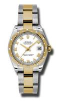 Rolex Datejust 31mm Steel & YG 24 Dia Bezel Oyster 178343WRO