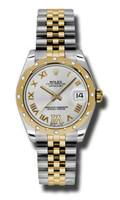 Rolex Datejust 31mm Steel & YG 24 Dia Bezel Jubilee 178343SDRJ