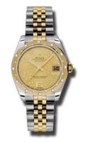 Rolex Datejust 31mm Steel & YG 24 Dia Bezel Jubilee 178343CHFJ