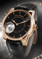 Pierre Thomas Geneve Tourbillon Historical Mechanical Movement Black Dial Watch PTTB-1