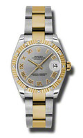 Rolex Datejust 31mm Steel & Gold 12 Dia Bezel-Oyster 178313GRO