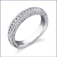 Gregorio 18K WG Diamond Engagement Band R-455B
