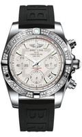 Breitling Chronomat 41 Steel Dia Bezel Diver Pro III Strap Deployant AB0140AA/G711