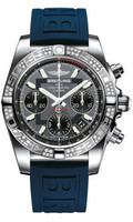 Breitling Chronomat 41 Steel Dia Bezel Diver Pro III Strap Deployant-AB0140AA/F554