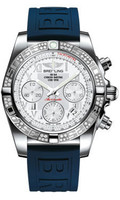 Breitling Chronomat 41 Steel Dia Bezel Diver Pro III Strap Deployant AB0140AA/A747