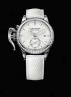 Graham London Chronofighter 1695 Romantic White Diamonds Steel Watch 2CXNS.S04A