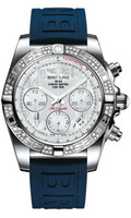 Breitling Chronomat 41 Steel Dia Bezel Diver Pro III Strap Tang AB0140AA/A746