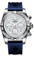 Breitling Watches Chronomat 41 Steel Dia Bezel Ocean Racer Strap AB0140AA/A746