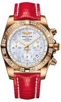 Breitling Chronomat Gold Dia Bezel Lizard Deployant HB0140AA/A723