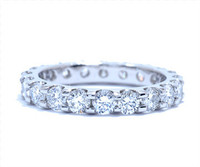 1.96 cttw Diamond Band In Platinum