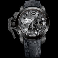 Graham 1695 Chronofighter Oversize Navy SEAL Foundation Black PVD Steel