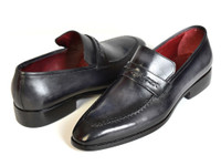 Paul Parkman Gray & Black Men's Loafers For Men (ID068-GRAY)
