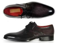 Paul Parkman Men's Anthracite Black Derby Shoes (ID054F-ANTBLK)
