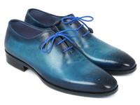 Paul Parkman Men's Blue & Navy Medallion Toe Oxfords (IDVN82BL)