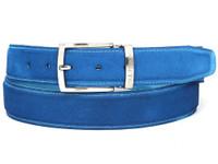 PAUL PARKMAN Men's Blue Suede Belt (IDB06-BLU)