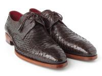 Paul Parkman Men's Brown Genuine Python (snakeskin) Derby Shoes (ID66CK94-BRW)