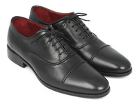 Paul Parkman Men's Captoe Oxfords Black (ID077-BLK)