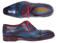 Paul Parkman Men's Captoe Oxfords Blue & Parliament (ID024-PARL)