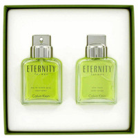 ETERNITY by Calvin Klein Gift Set -- 3.4 oz Toilette  Spray + 3.4 oz After Shave
