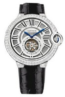 Cartier Ballon Bleu Tourbillon WG Diamond Watch HPI00258