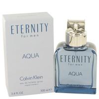 Eternity Aqua by Calvin Klein Toilette  Spray 3.4 oz