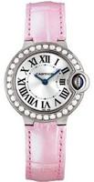 Cartier Ballon Bleu Small (WG Diamonds/Silver/ Leather)
