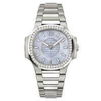 Patek Philippe Ladies Automatic Nautilus ( SS- Diamonds/Blue/SS Bracelet)