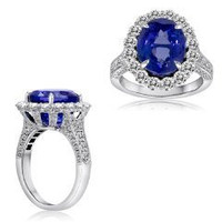 9.83 Ct Tanzanite & Diamond Ring (rd 1.88ct, Tz 7.95ct)