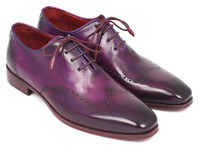Paul Parkman Men's Purple Wingtip Oxfords (ID84HT12)