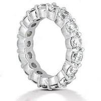 4 Carat F-g/vs Round Diamond Eternity Band