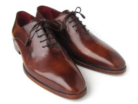 Paul Parkman Plain Toe Brown Calfskin Oxfords (ID019-BRW)