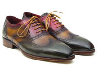 Paul Parkman Three Tone Wingtip Oxfords (IDPP22F75)