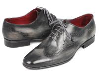 Paul Parkman Wintip Oxfords Gray & Black Handpainted Calfskin (ID741-GRY)