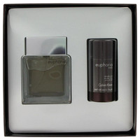 Euphoria by Calvin Klein Gift Set -- 3.4 oz Toilette  Spray + 2.6 oz Deodorant Stick