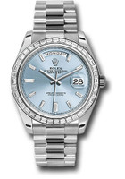 Day-Date 40 Platinum -Diamond Bezel 228396TBR ibbdp