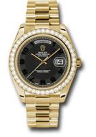 Rolex Watches: Day-Date II President Yellow Gold Diamond Bezel 218348 bkcap