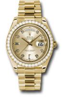 Rolex Watches: Day-Date II President Yellow Gold Diamond Bezel 218348 chdp