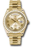 Rolex Watches: Day-Date II President Yellow Gold - Diamond Bezel  218348 chrp