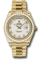 Rolex Watches: Day-Date II President Yellow Gold Diamond Bezel 218348 icap