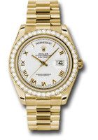 Rolex Watches: Day-Date II President Yellow Gold Diamond Bezel  218348 wrp