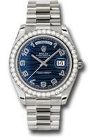 Rolex Watches: Day-Date II President White Gold Diamond Bezel 218349 blwap