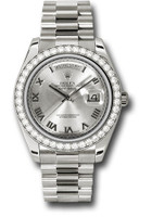 Rolex Watches: Day-Date II President White Gold - Diamond Bezel 218349 rrp