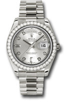 Rolex Watches: Day-Date II President White Gold - Diamond Bezel 218349 sdp