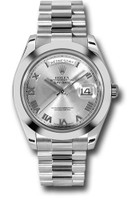 Rolex Watches: Day-Date II President Platinum - Polished Bezel 218206 rrp