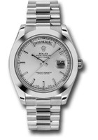 Rolex Watches: Day-Date II President Platinum - Polished Bezel 218206 sip