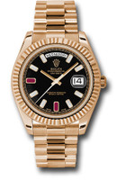 Rolex Watches: Day-Date II President Pink Gold - Fluted Bezel  218235 bkdrp