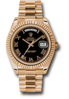 Rolex Watches: Day-Date II President Pink Gold - Fluted Bezel  218235 bkrp