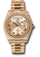 Rolex Watches: Day-Date II President Pink Gold - Fluted Bezel 218235 chrp