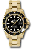 Rolex Watches: Submariner Gold 116618 bk